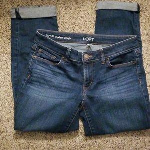 LOFT Denim Crop Pants 6 petite